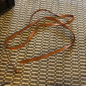 Accessories - Brown skinny wraparound belt